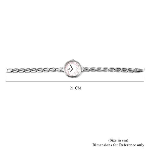 RACHEL GALLEY Swiss Movement 5ATM Water Resistant Watch in Stainless Steel - Pink