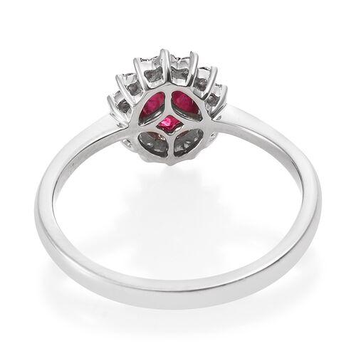 RHAPSODY 950 Platinum AAAA Burmese Ruby (Ovl), Diamond (VS/E-F) Ring 1.150 Ct.