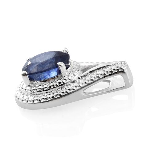 Masoala Sapphire (Ovl 8x6 mm) Solitaire Pendant in Sterling Silver 1.750 Ct.