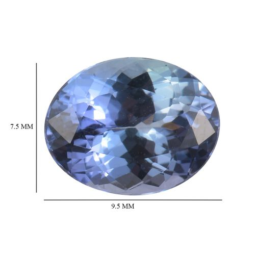 AA Peacock Tanzanite Oval 9.5x7.5 Faceted 2.11 Cts