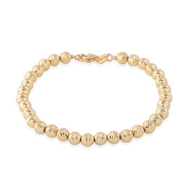 Made in Italy 9K Yellow Gold Diamond Cut Beads Bracelet (Size 6.75), Gold wt 4.06 Gms.