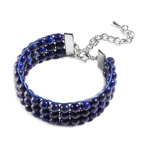 Lapis Lazuli Bracelet (Size 7 with 2 inch Extender) 140.00 Ct.