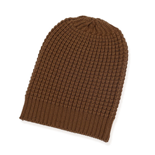 Brown Colour Cap (Size 30x20 Cm) and Muffler (Size 150x25 Cm)