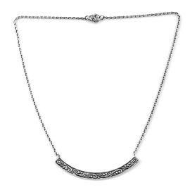 Royal Bali 18 Inch Bar Necklace in Sterling Silver 10.20 Grams