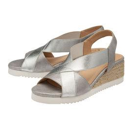 Lotus Penelope Wedge Sandals - Silver