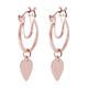 Rose Gold Overlay Sterling Silver Heart Earrings