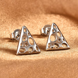 RACHEL GALLEY Lattice Trinity Collection- Rhodium Overlay Sterling Silver Earrings (with Push Back)