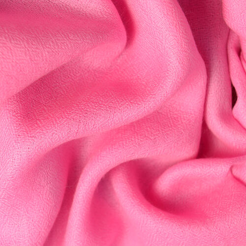 100% Cashmere Wool Pink Colour Scarf (Size 190x68Cm)