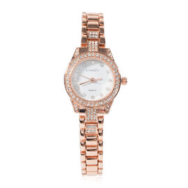 ETERNITY Crystal from Swarovski Studded Ladies Watch in Gold Tone