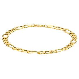 Hatton Garden Close Out Deal-9K Yellow Gold Figaro Bracelet (Size 8.25), with Spring Ring Clasp 2.5