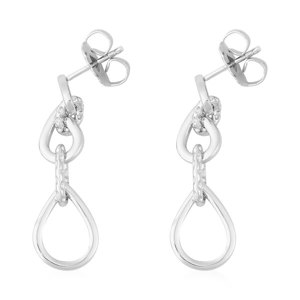 RACHEL GALLEY Rhodium Overlay Sterling Silver Earrings (with Push Back), Silver wt. 5.96 Gms