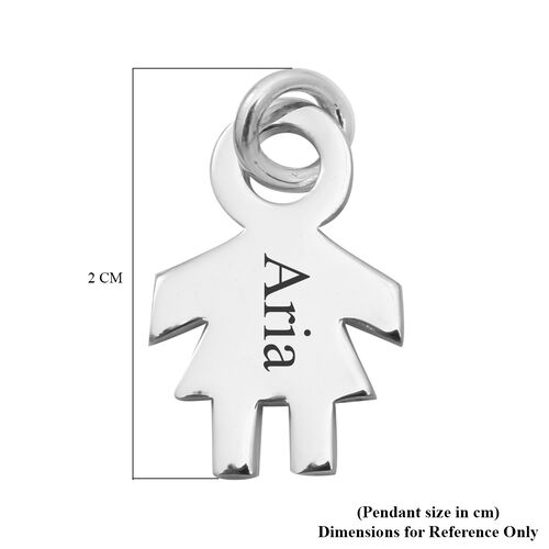 Personalise Engravable Girl Pendant in Silver