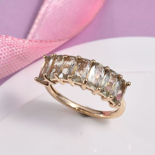 9K Yellow Gold Turkizite Half Eternity Ring 2.00 Ct.