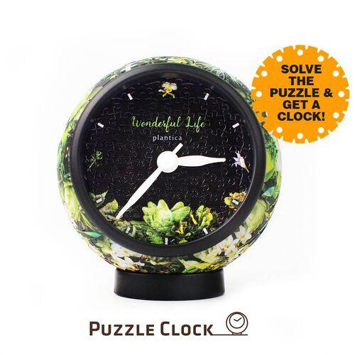 Pintoo Elegant Notation 3D Puzzle Clock with 145 Puzzle Pieces (Size 10x10x10.5cm)