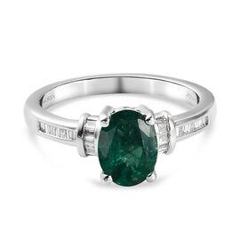RHAPSODY AAAA Premium Emerald & Diamond (VS/ E-F) Ring 1.35 Ct