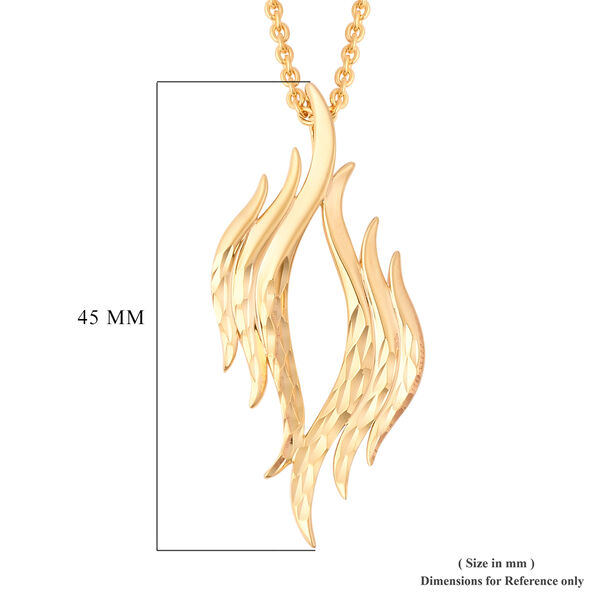 LucyQ Flame Collection - Yellow Gold Overlay Sterling Silver Pendant Chain (Size 20)
