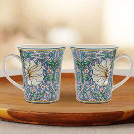 Lesser and Pavey - William Morris Pimpernel Mugs - Set of 2
