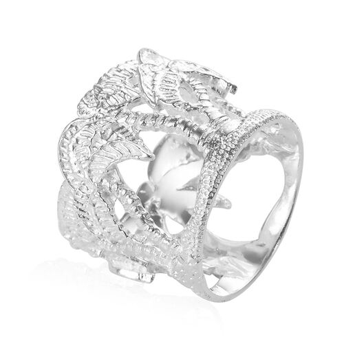 Sterling Silver Palm Tree Ring, Silver wt 5.70 Gms