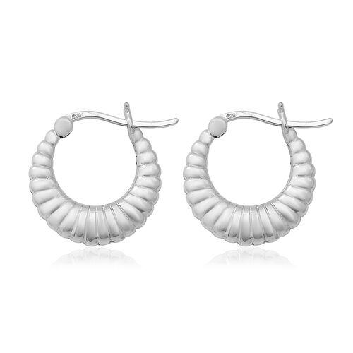 High Finish Creole Hoop Earrings in Sterling Silver