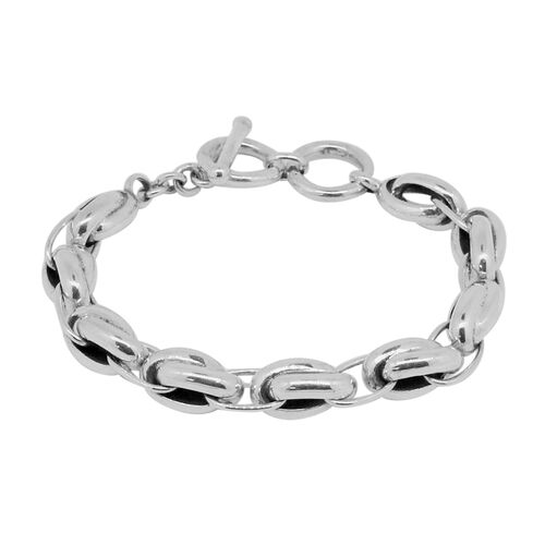 Royal Bali Collection Sterling Silver Oval Link Bracelet (Size 8), Silver wt. 39.73 Gms.