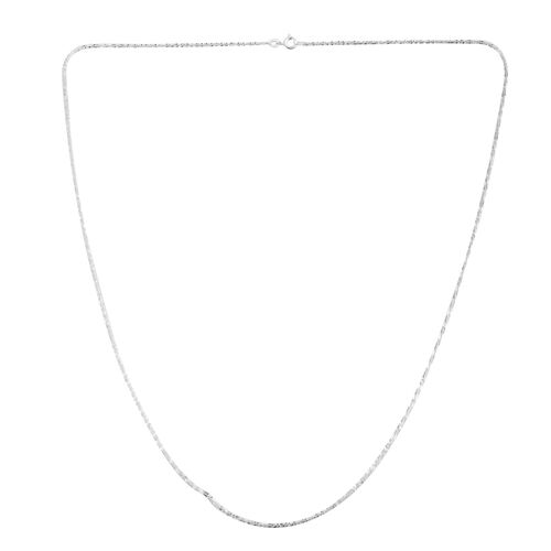 Vicenza Collection Sterling Silver Sparkle Chain (Size 24), Silver wt 3.10 Gms.