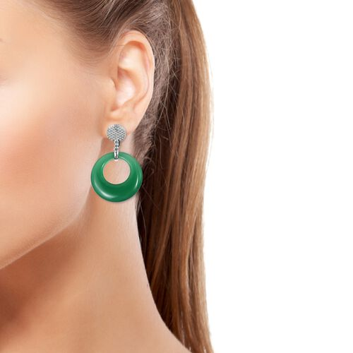 Verde Onyx Clip - On Earrings in Stainless Steel 40.000 Ct.