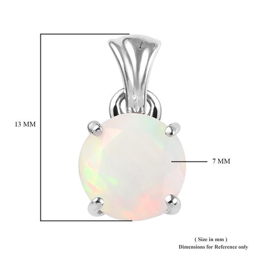 Limited Available RHAPSODY 950 Platinum AAAA Ethiopian Welo Opal (Rnd 7mm) Pendant 0.75 Ct.