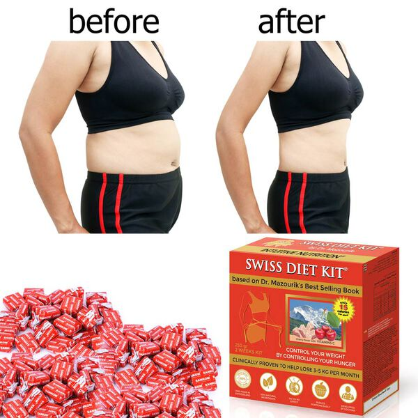SWISS DIET KIT - Cherry Flavour Dietary Candies Refill Pack (250g) - 84 Pieces