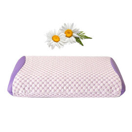 Premium Collection- Aroma Therapy Chamomile Infused Memory Foam Air Flow Pillow (Size 65x45 Cm)