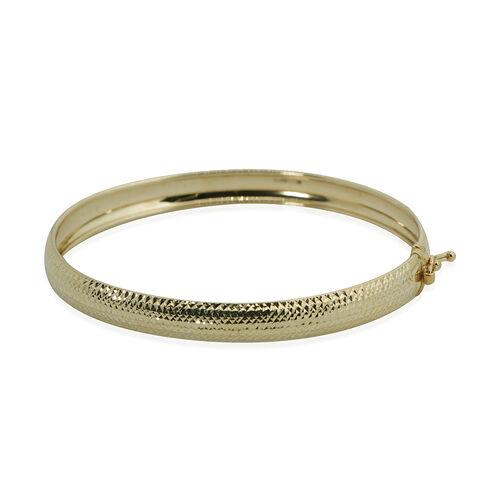 9K Yellow Gold Diamond Cut Bangle (Size 7.5) Gold Wt. 5.10 Gms