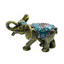 Multi Austrian Crystal Studded Elephant Trinket Box