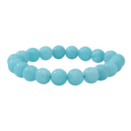 Amazonite Quartz Stretchable Beads Bracelet (Size 7.5) 125.00 ct.