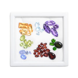 One Time Deal - Multi Gem Stones Citrine, Garnet, Amethyst, Russian Diopside, Peridot, Tanzanite, To