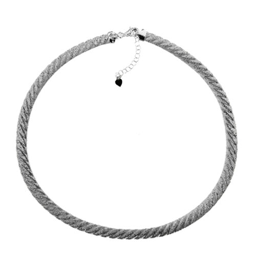 GP JCK Vegas Collection Rhodium Plated Sterling Silver Necklace (Size 18 with 2 inch Extender), Silv