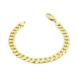 Italian Made-9K Yellow Gold Curb Bracelet (Size 8) with Lobster Clasp, Gold Wt. 13.30 Gms