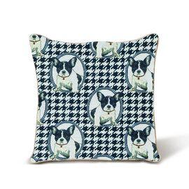 Signare French Bulldog Pattern Cushion Cover  (45x45 cm)
