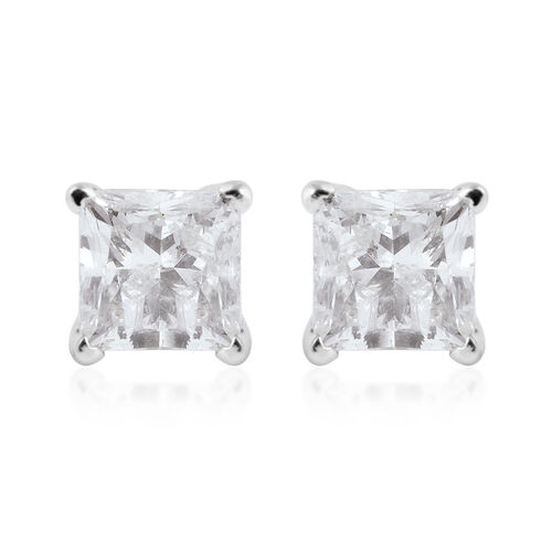 2 Carat Diamond Earrings in 14K White Gold I2 GH