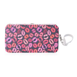 Sassy Lip Pattern Phone Case with RFID Blocking Card Slots Clutch (Size 17.5x9.5x2 Cm)