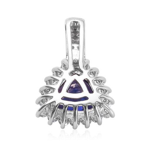 RHAPSODY 950 Platinum Tanzanite, Diamond Halo Pendant 2.98 Ct.