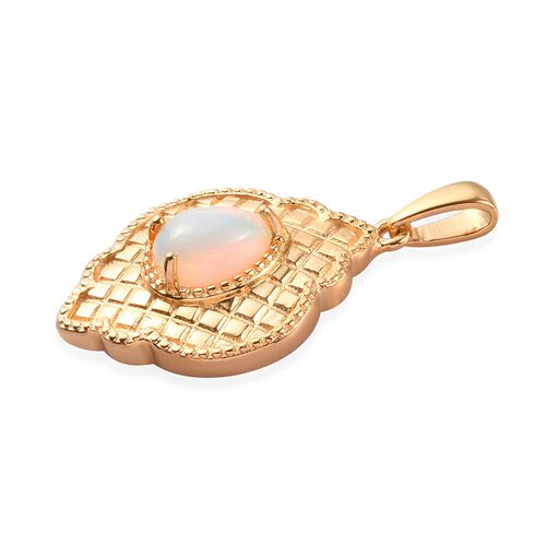Ethiopian Welo Opal Pendant in 14K Gold Overlay Sterling Silver 1.00 Ct.