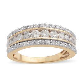 9K Yellow Gold SGL Certified Diamond (Rnd) (I3/G-H) Ring 1.000 Ct.