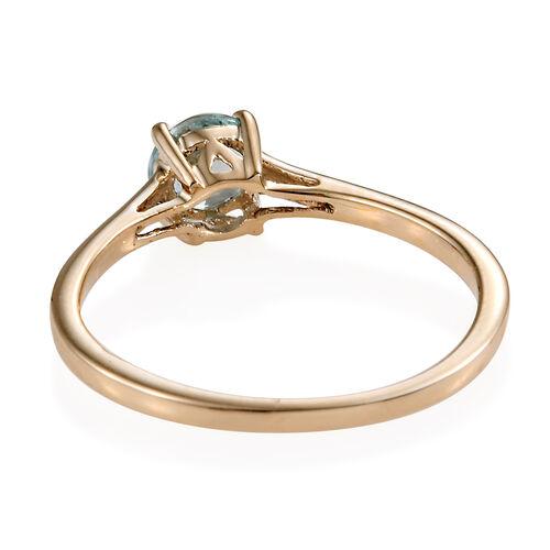 Blue Zircon (0.60 Ct) 9K Y Gold Ring  0.600  Ct.