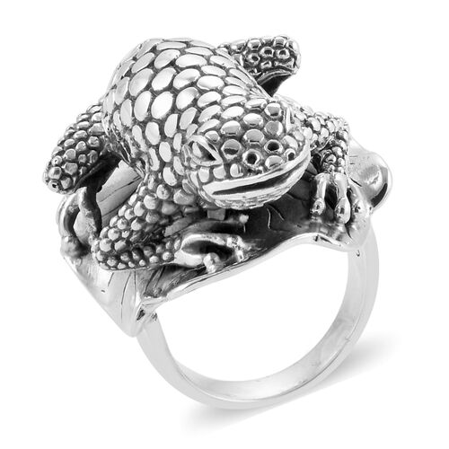 Limited Available - Royal Bali Collection Sterling Silver Frog Ring, Silver wt 29.93 Gms.