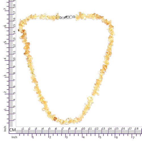Citrine Necklace (Size 20) with Lobster Lock in Platinum Overlay Sterling Silver 150.000 Ct.