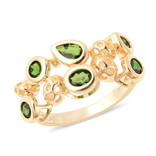 RACHEL GALLEY Misto Collection - Russian Diopside Ring in Yellow Gold Overlay Sterling Silver 2.00 C