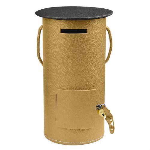 Home Decor - Golden Colour Post Office Piggy Bank (Size 23x12 Cm)