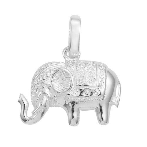 Sterling Silver Elephant Pendant, Silver wt 3.43 Gms.