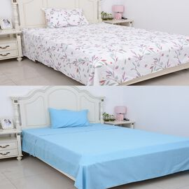 6 Piece Set 2 Fitted Sheet Size 190x90x30 Cm, 2 Flat Sheet Size 180x265 and 2 Pillow Case Size 75x50