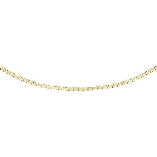 14K Yellow Gold Box Venetian Chain (Size 24)