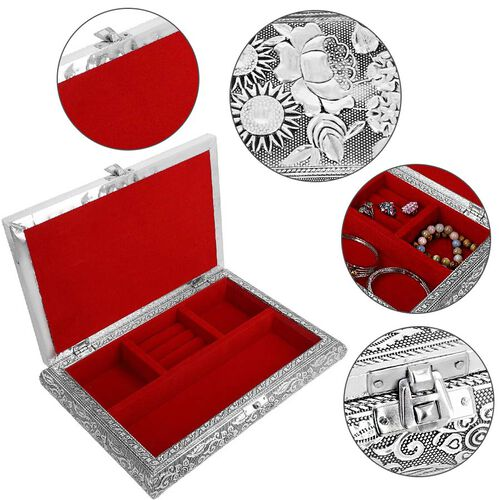 3D Embossed Collection Handcrafted Oxidised Book Shaped Jewellery Box with Butterfly Design (Size: 27.9x21.6 Cm)